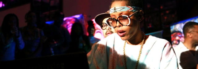 Erykah Badu aka DJ Lowdown Loretta Brown at Broccoli City Festival