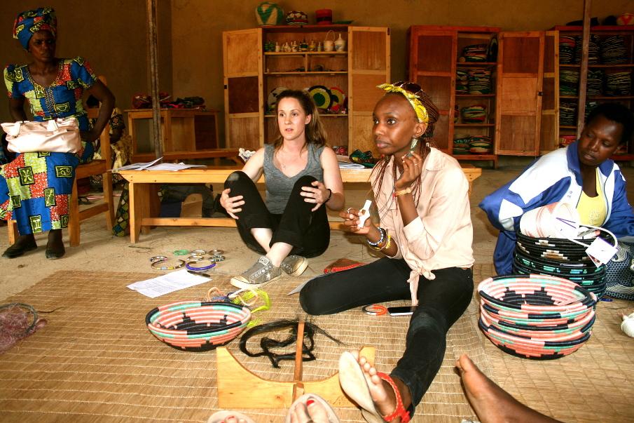 Erika Freund in Rwanda