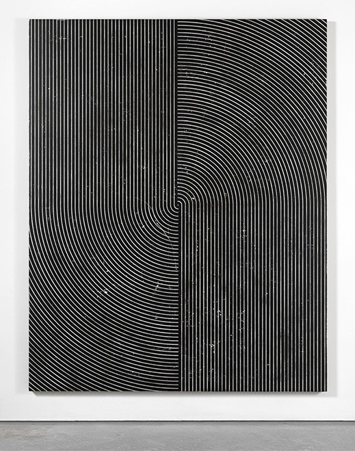 Davide Balliano, UNTITLED, 2016, Plaster, gesso & lacquer on wood, 80 x 64 inches, Courtesy of the Artist and Tina Kim Gallery. Photo © Dario Lasagni
