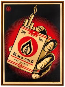 "Shepard Fairey "" Black Gold @ Heron Arts"