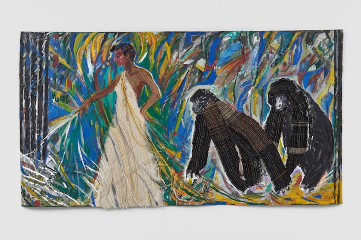 Emma Amos, Josephine and the Mountain Gorillas, 1985