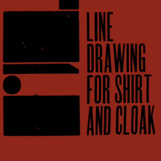 Theaster Gates Line Drawing for Shirt and Cloak at Regen Projects